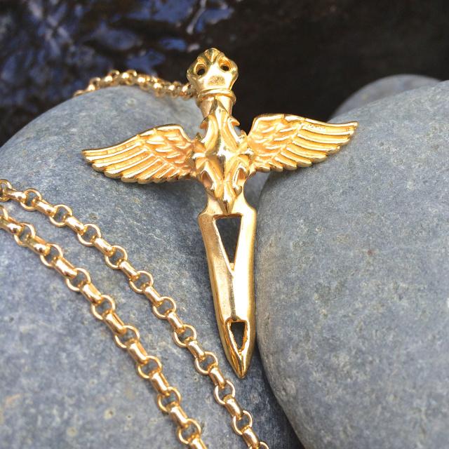 Energy Alchemy Archangel Michael Gold Necklace